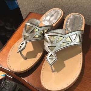 Sam Edelman Silver and Gold sandals sz 8.5 (fits 8